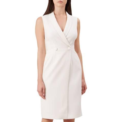 Hobbs London Ivory Sleeveless Lana Tux Dress