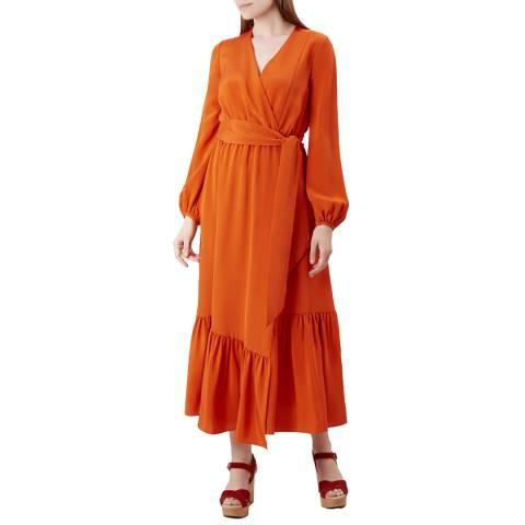 Hobbs London Orange Valencia Floaty Dress
