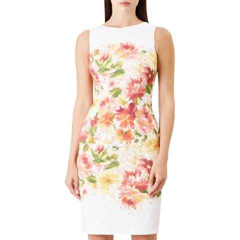 Hobbs London Ivory Fiona Floral Print Dress