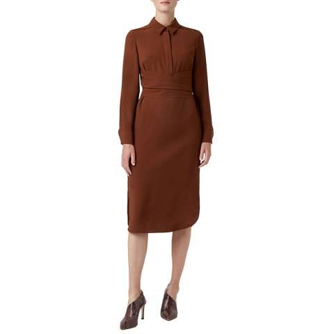 Hobbs London Hazelnut Reagan Tie Waist  Dress