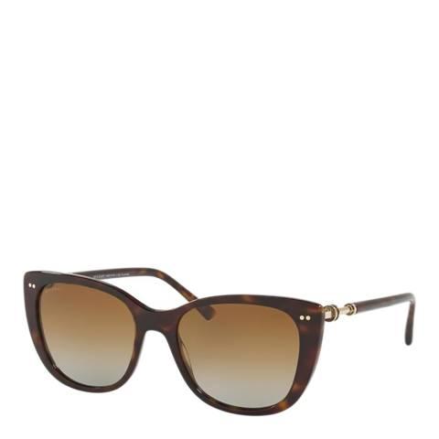 Bvlgari Women's Tortoiseshell Sunglasses 54mm