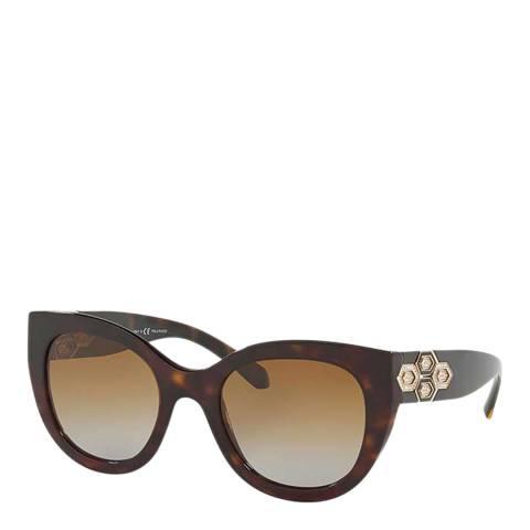 Bvlgari Women's Tortoiseshell Sunglasses 53mm