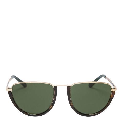 Burberry Women's Gold/Tortoiseshell Sunglasses 54mm