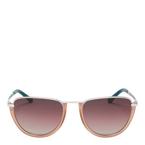 Burberry Women's Silver/Pink Sunglasses 54mm