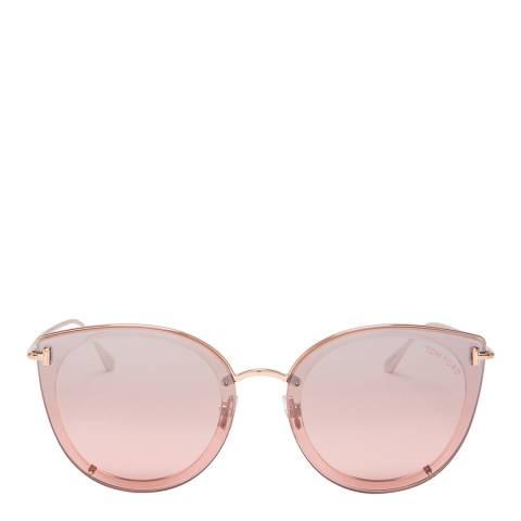 Tom Ford Women's Rose Gold Sunglasses 64mm