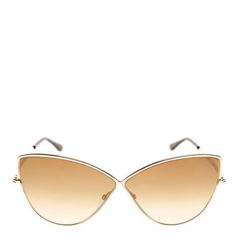 Tom Ford Women's Gold Sunglasses 65mm