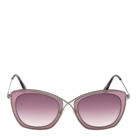 Tom Ford Women's Silver/Pink Sunglasses 53mm