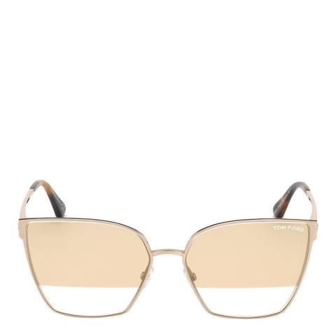 Tom Ford Women's Gold Sunglasses 59mm
