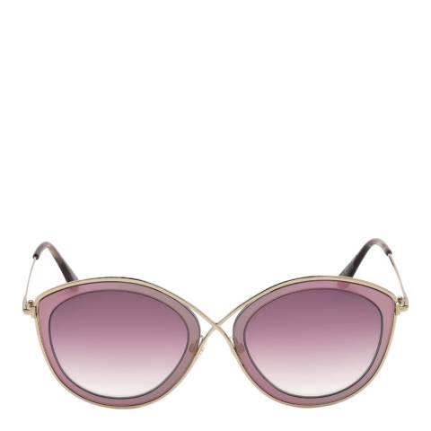 Tom Ford Women's Gold/Pink Sunglasses 55mm
