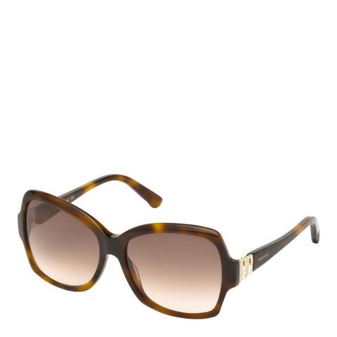 SWAROVSKI Women's Tortoiseshell Sunglasses 58mm