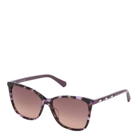 SWAROVSKI Women's Purple Sunglasses 56mm