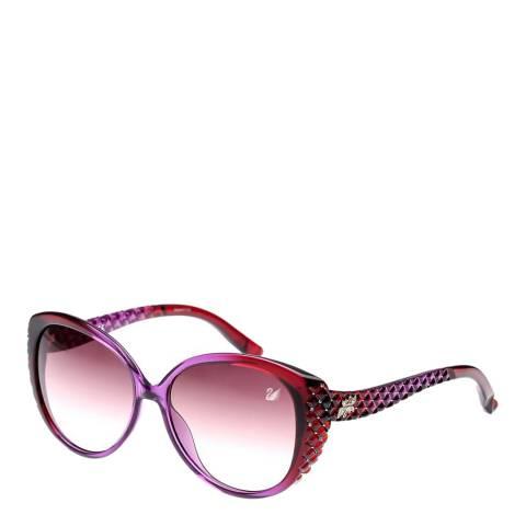 SWAROVSKI Women's Purple/Red Sunglasses 58mm