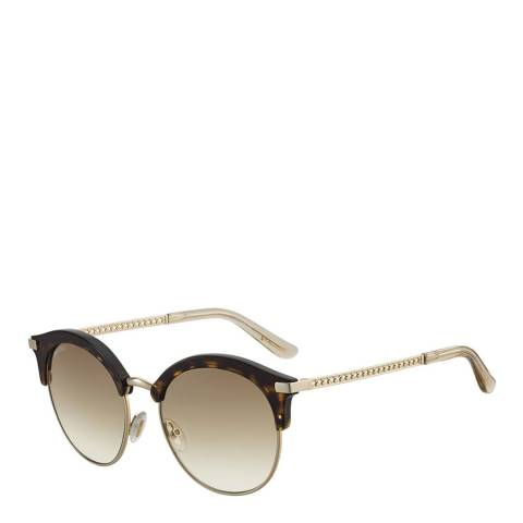 Jimmy Choo Women's Gold/Tortoiseshell Sunglasses 55mm