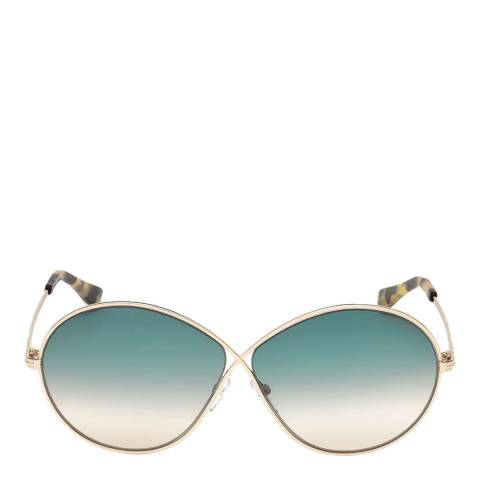 Tom Ford Women's Gold Sunglasses 64mm