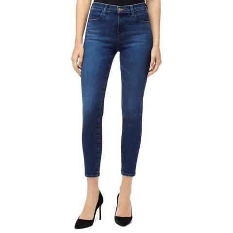 J Brand Washed Blue Alana Crop Skinny Stretch Jeans