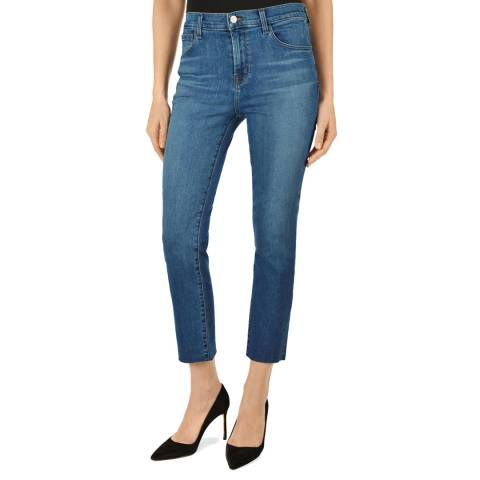 J Brand Mid Blue Ruby Cropped Jeans