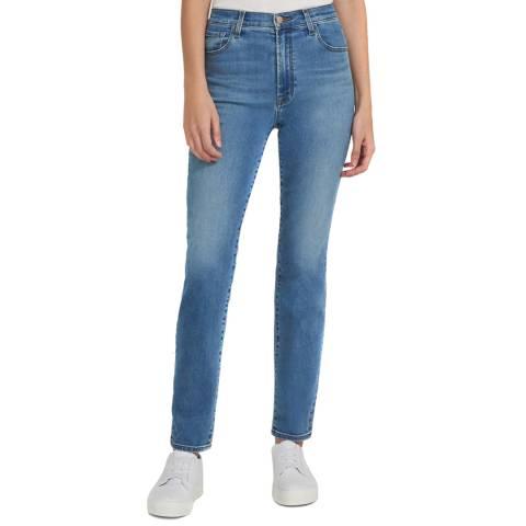 J Brand Light Blue Teagan High Rise Straight Jeans