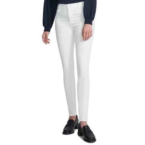 J Brand White Maria Skinny Stretch Jeans