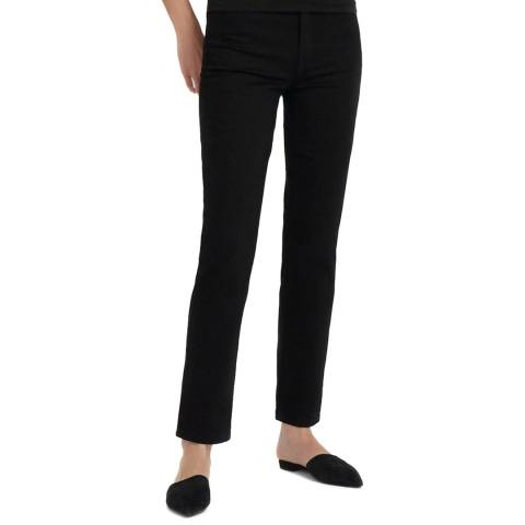J Brand Black Teagan High Rise Straight Jeans