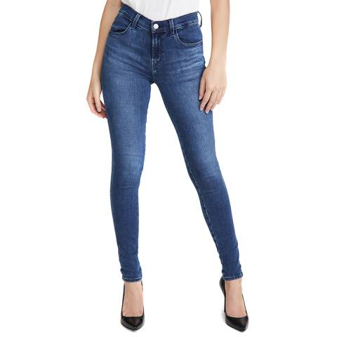 J Brand Mid Blue Sophia Super Skinny Stretch Jeans