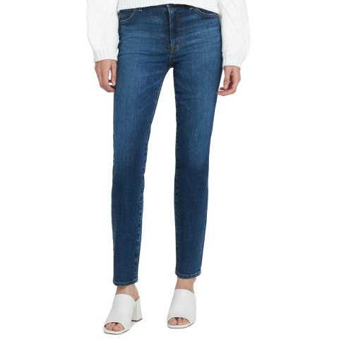 J Brand Washed Blue Teagan High Rise Straight Jeans