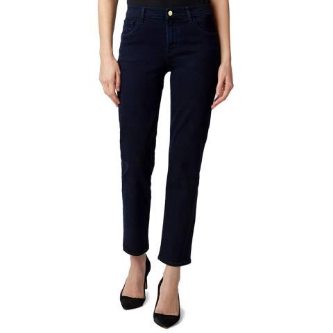 J Brand Dark Blue Adele Mid Rise Straight Jeans