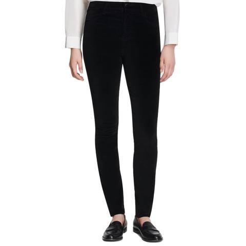 J Brand Black Velvet Maria Skinny Stretch Jeans