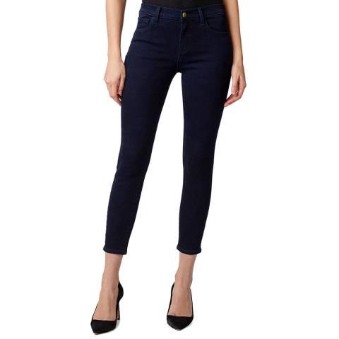 J Brand Dark Blue 835 Mid Rise Crop Skinny Jeans