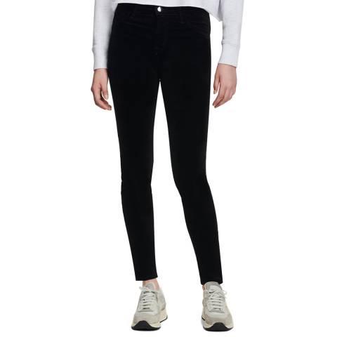 J Brand Black Velvet 815 Super Skinny Stretch Jeans