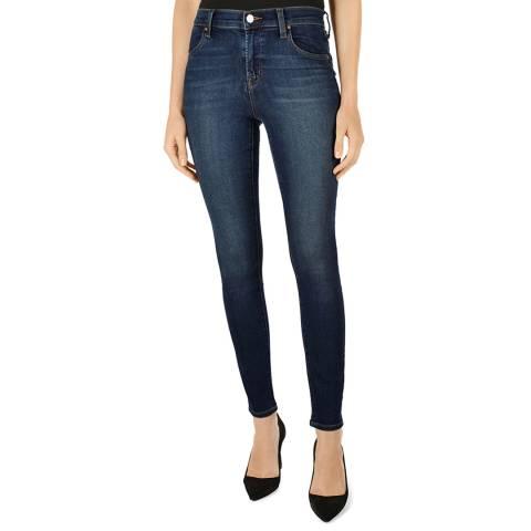 J Brand Mid Blue Wash Maria Skinny Stretch Jeans