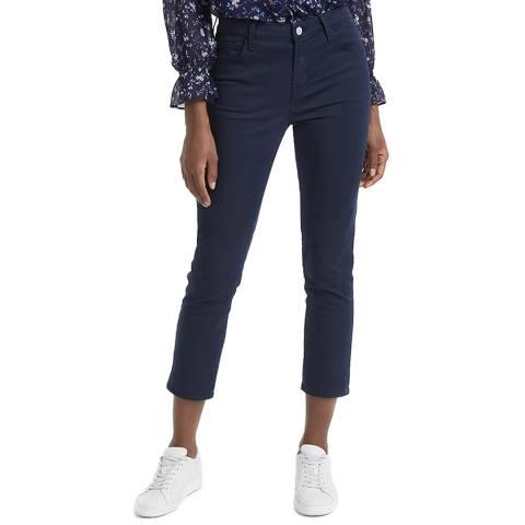 J Brand Navy Ruby High Rise Crop Jeans