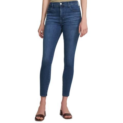 J Brand Mid Blue Alana Crop Skinny Stretch Jeans