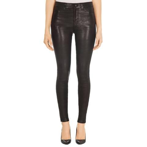 J Brand Black Maria Skinny Leather Pants