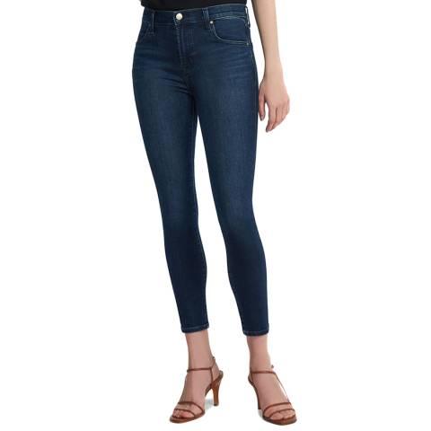 J Brand Mid Blue Wash Alana Crop Skinny Stretch Jeans
