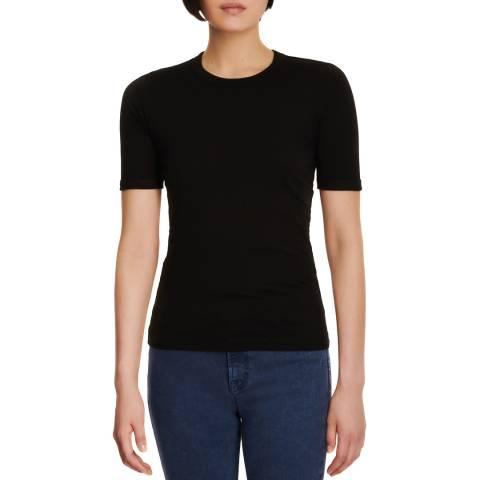 J Brand Black Marta Cotton Blend T-Shirt