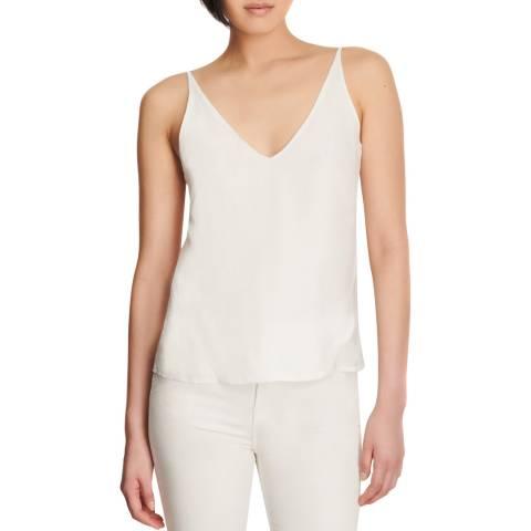 J Brand White Lucy Silk Cami Top
