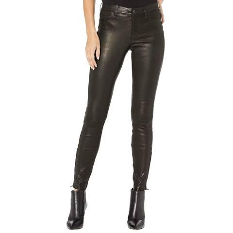 J Brand Black L8001 Skinny Leather Pants