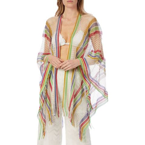 Missoni Green Multi Stripe Netted Cover Up