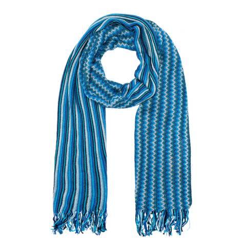 Missoni Blue Stripe Scarf