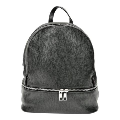 Anna Luchini Black Leather Backpack