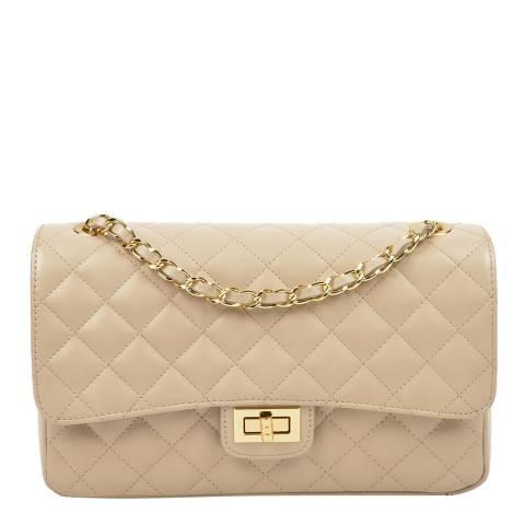 Isabella Rhea Beige Leather Shoulder/Crossbody Bag