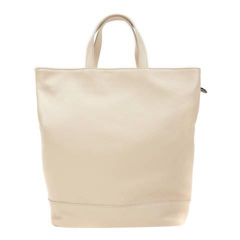 Isabella Rhea Beige Leather Backpack
