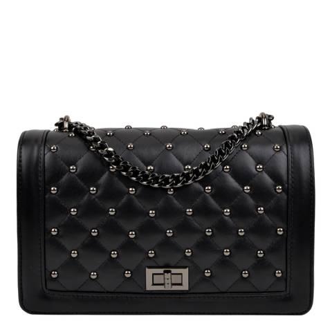 Isabella Rhea Black Leather Shoulder/Crossbody Bag