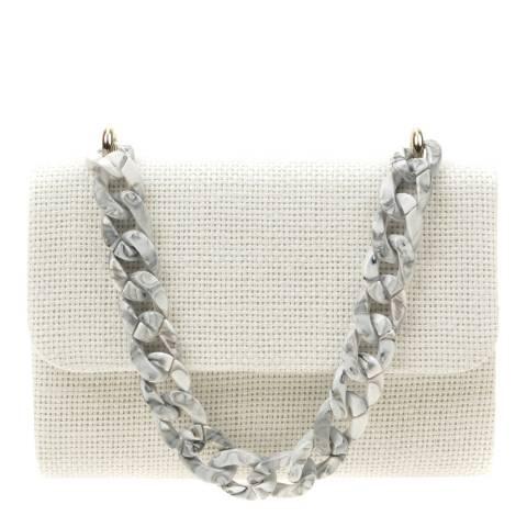 Mangotti White Top Handle Bag