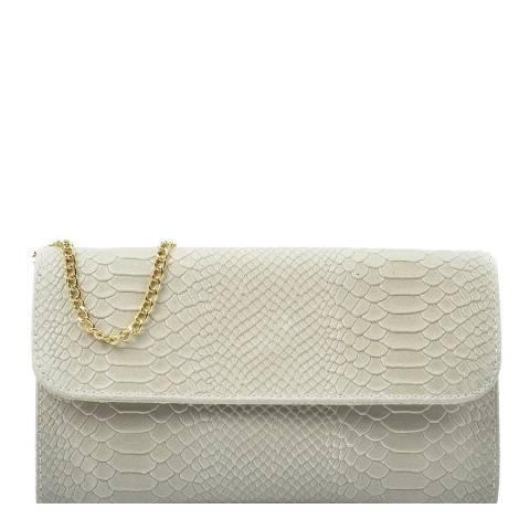 Isabella Rhea Beige Leather Crossbody/Clutch Bag