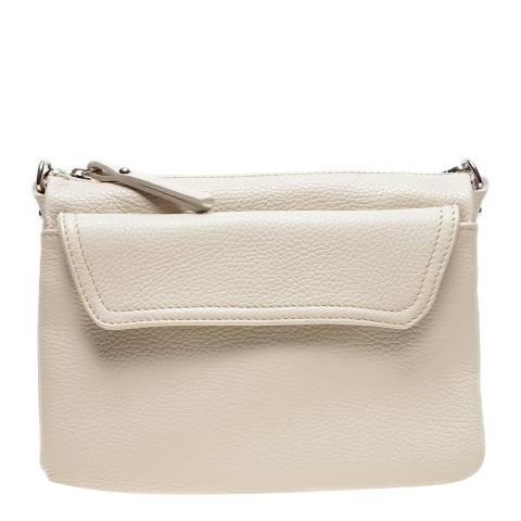 Isabella Rhea Beige Leather Crossbody Bag