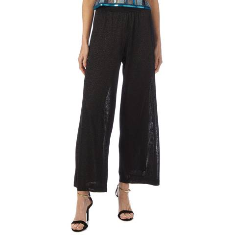 Missoni Black Sparkle Sheer Wide Trousers