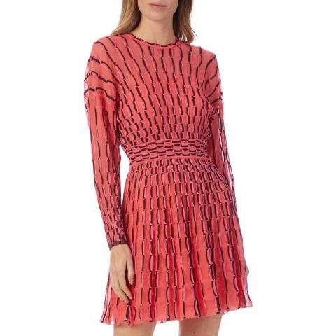 M Missoni Pink Multi Skater Dress