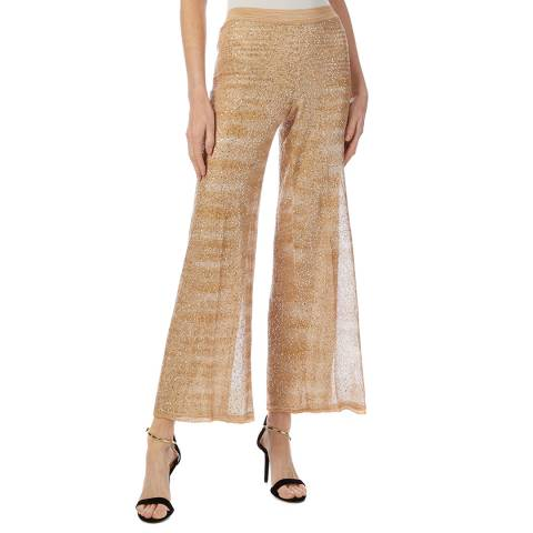 Missoni Gold Sparkle Sheer Trousers