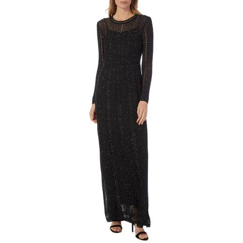M Missoni Black Sparkle Woven Maxi Dress